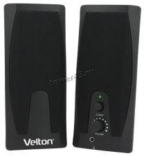 Колонки VELTON VLT-SP205 2.0, 2Вт (1Вт*2 RMS) , USB, черные Купить
