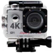 Экшн-видеокамера Smarterra W6 4Kх30кадров/сек, 170°, WiFi, HDMI, USB, крепеж, пульт, серебристая Купить