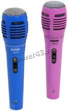 Микрофон BBK CM215 синий/розовый, шнур 2.5м, комплект 2 шт, для караоке Купить