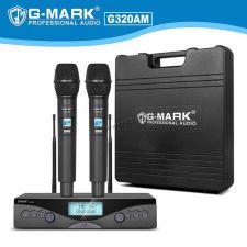 Радиосистема G-Mark G320AM профессиональная с двумя ручными вокальными радиомикрофонами Купить