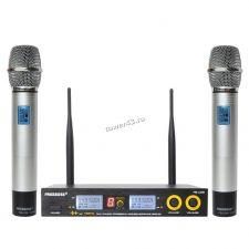 Радиосистема G-Mark G320AM профессиональная с двумя ручными вокальными радиомикрофонами Цена