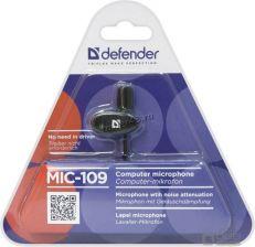 Микрофон Defender MIC-109 черный, клипса Цены