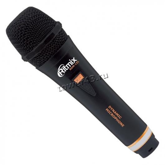 Микрофон Ritmix RDM-131 для караоке, шнур 3м, корпус металл