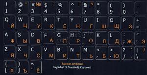 Наклейки на клавиатуру (кириллица) красные прозрачные /черные непрозрачные Купить