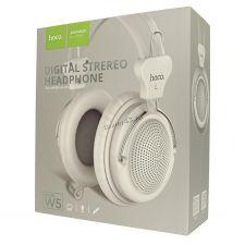 Наушники+микрофон HOCO W5 накладные синие, шнур 1,2м, 4пин, L-штекер Цена